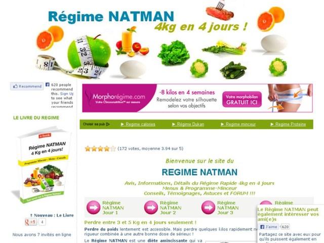 Régime Natman Avis