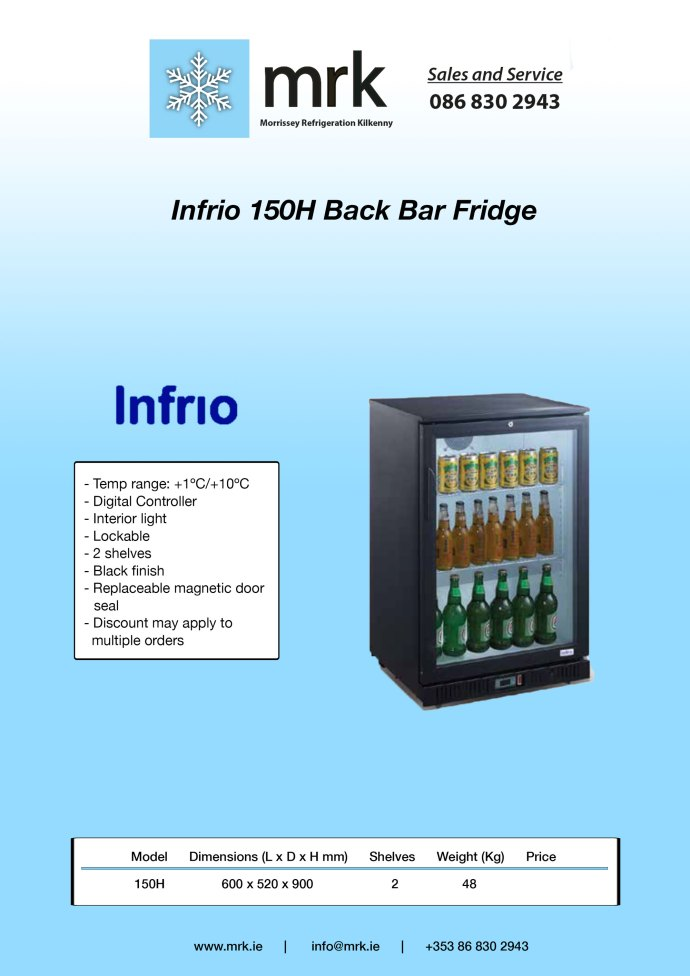 Infrio-150H-Back-Bar-Fridge