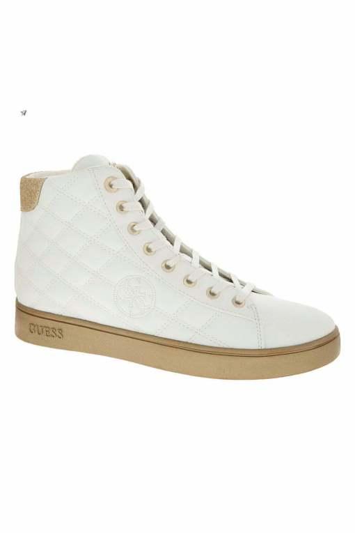 Pantofi inalti casual Guess White Diamond Quilted, marimea 36