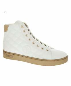 Pantofi inalti casual Guess White Diamond Quilted, marimea 36