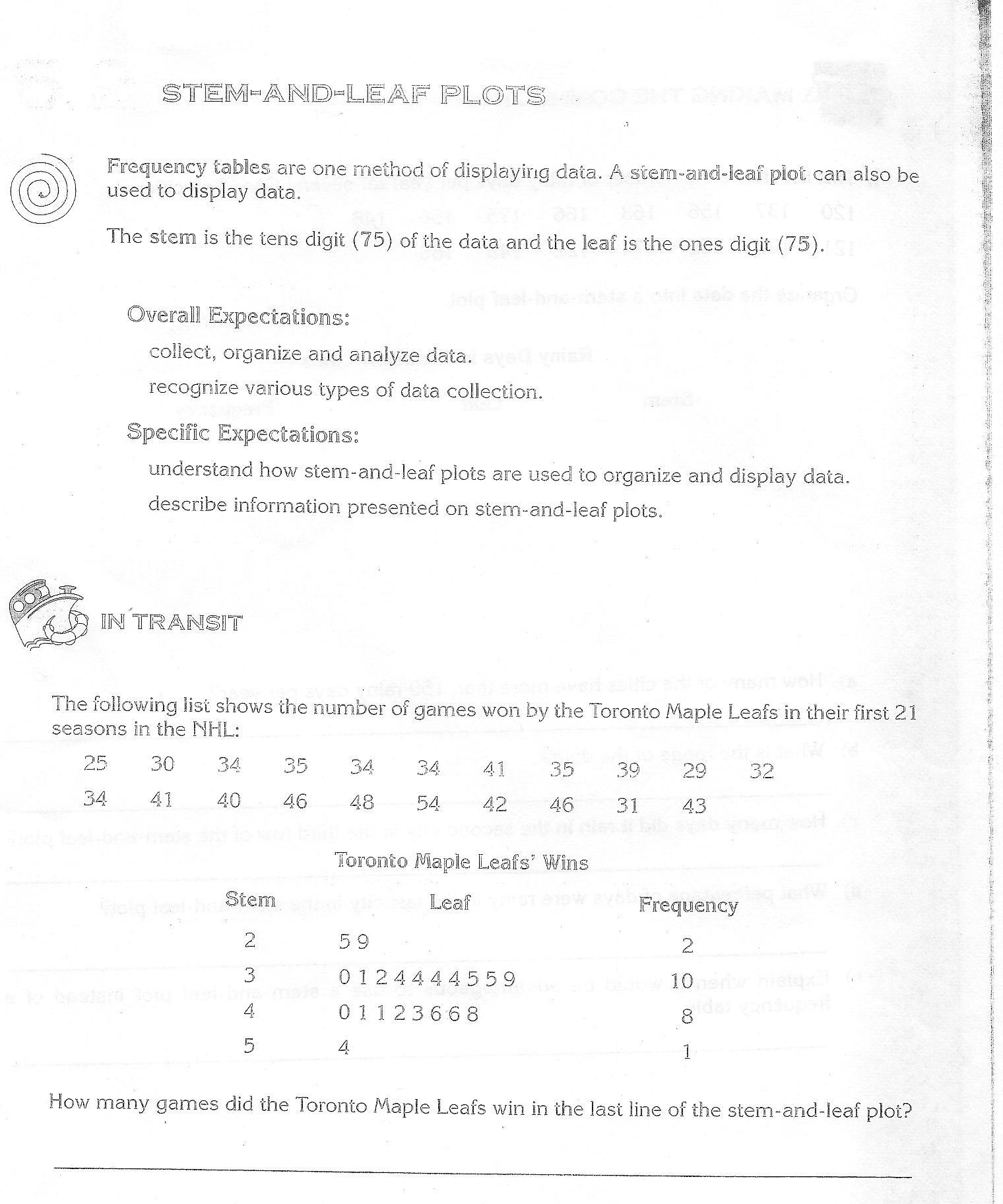 Worksheet Stem And Leaf Plot Worksheets Grass Fedjp