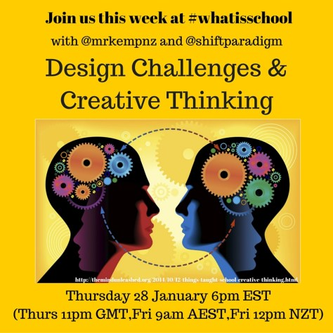 Join us at #whatisschool Creative Thinking