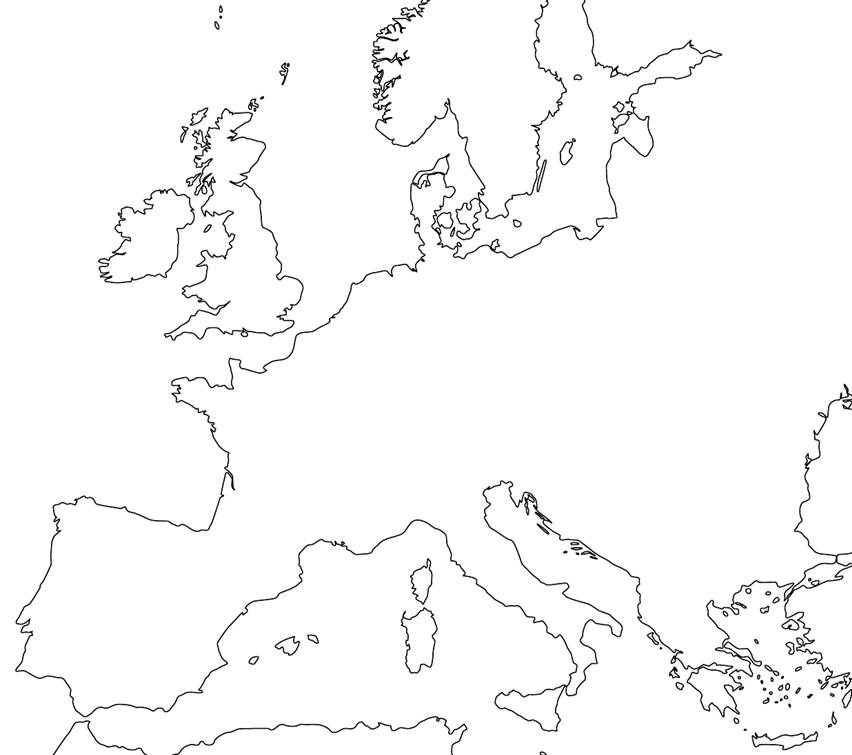 Blank Map Of Europe During The Middle Ages