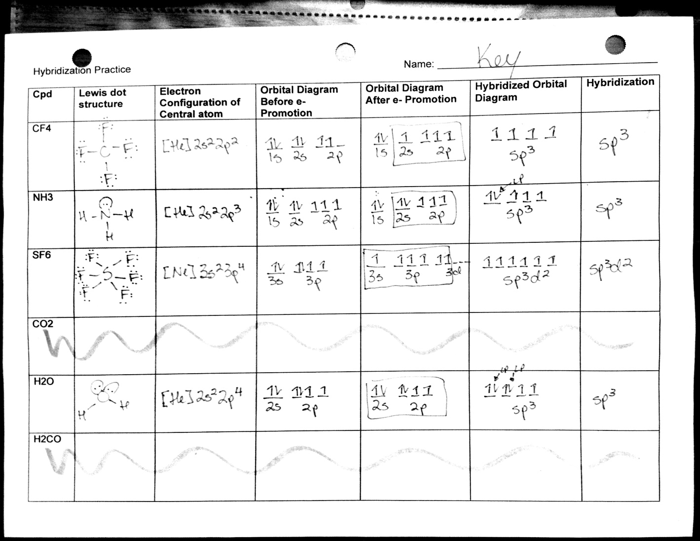 Chemistry Vsepr Worksheet