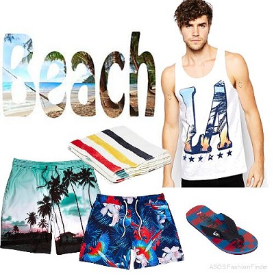 MEN'S BEACH STYLE   What To Wear To The Beach Or A Pool Party