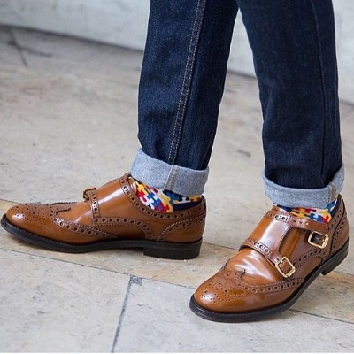 double monk strap shoe
