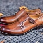double monk strap shoe