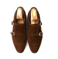 Suede Double Monk Strap Shoe