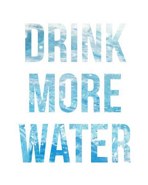 staying healthy drink more water