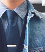 denim shirt with tie mr koachman