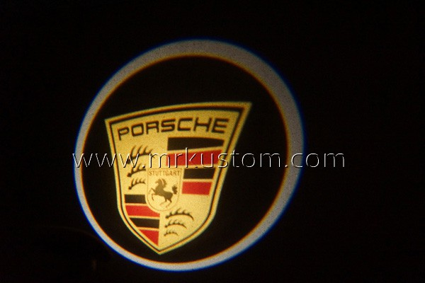 Porsche LED Door Projector Courtesy Puddle Logo Lights