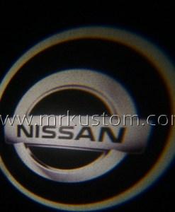 Silver Nissan LED Courtesy Logo Projector Lights