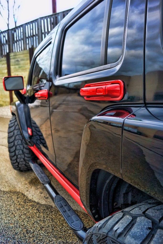 Hummer H3 Red Painted Door Handles