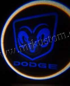 Dodge LED Courtesy Logo Projector Lights Blue