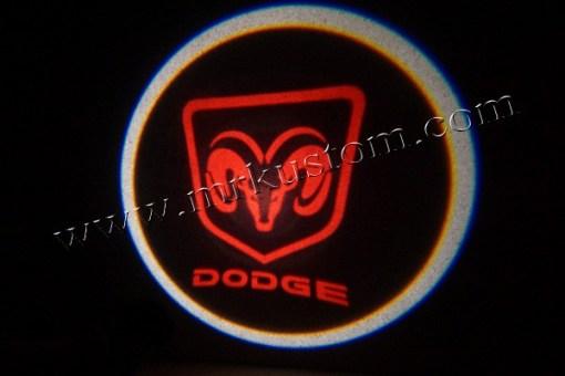 Dodge LED Courtesy Logo Projector Lights Red