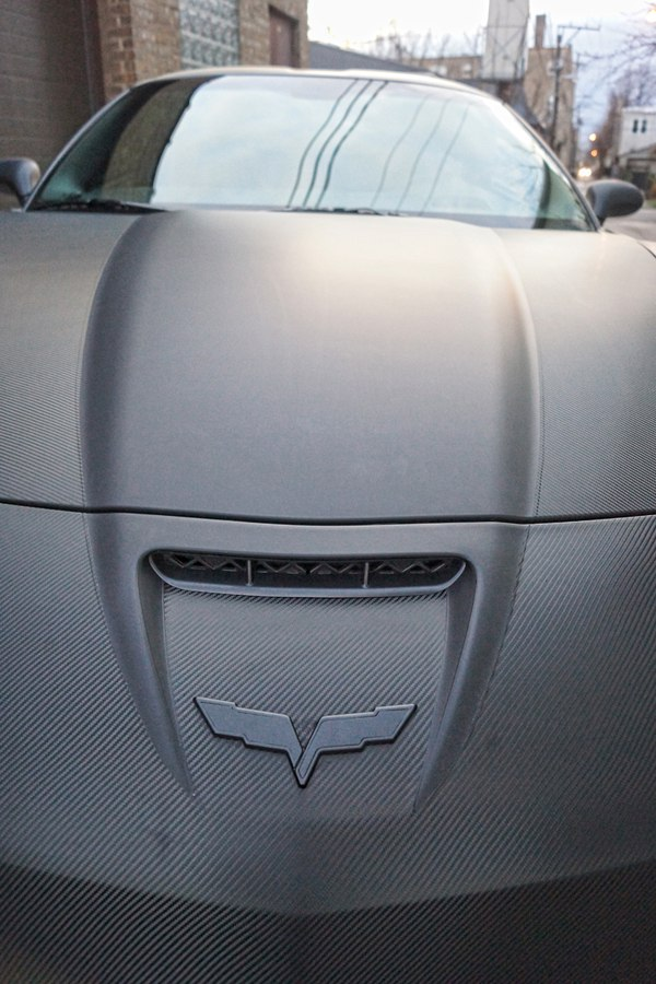 Corvette ZO6 Carbon Fiber Matte Black Wrap