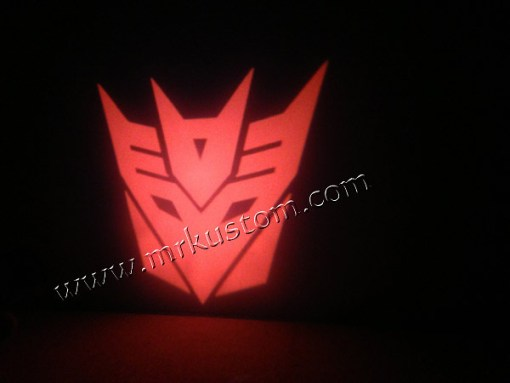 Transformer Red LED Door Projector Courtesy Puddle Logo Lights