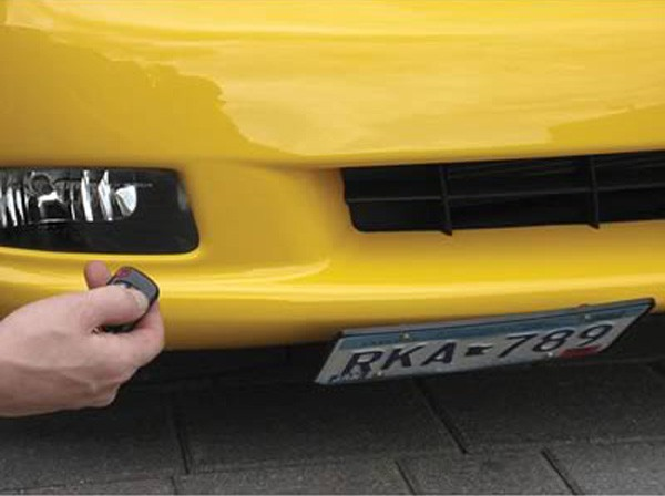 Electric Retractable Flip License Plate Holder