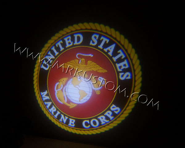 Marines LED Door Projector Courtesy Puddle Logo Lights