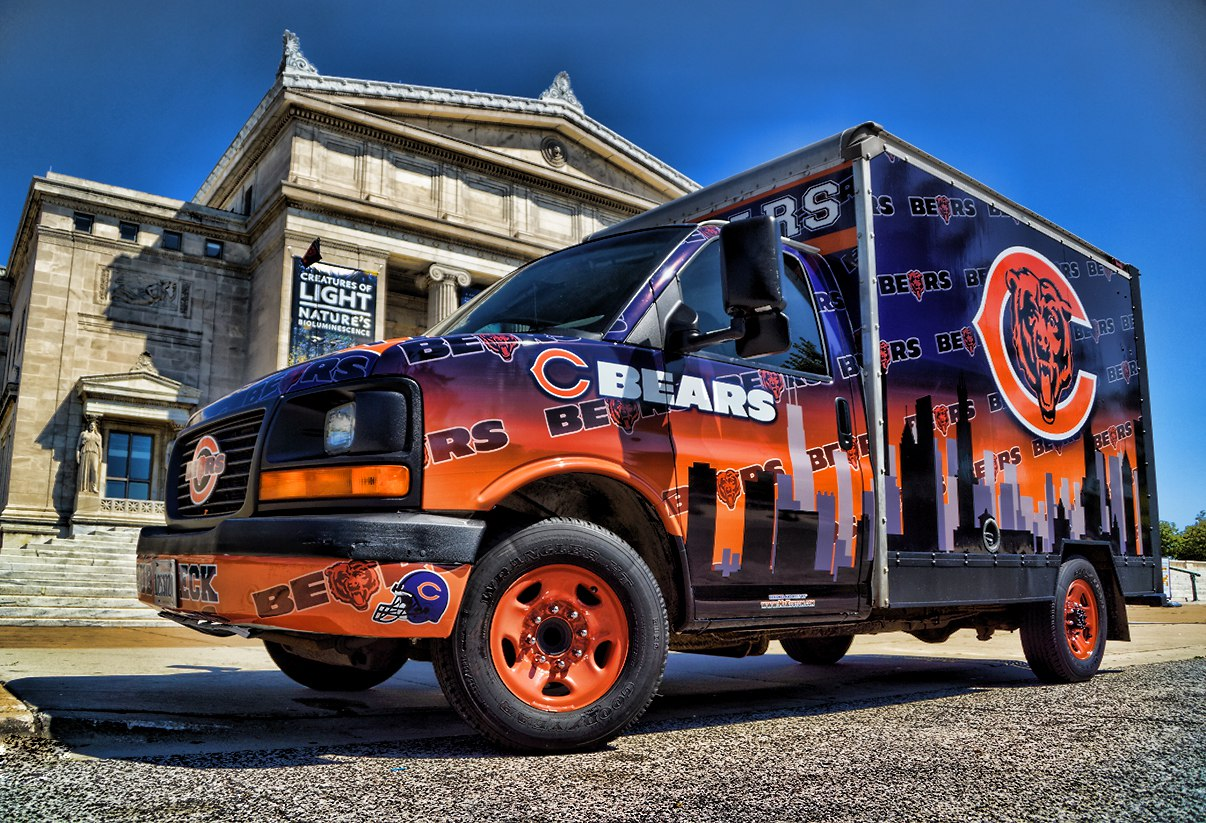 Chicago Bears Fan Tailgating Party Vehicle  Mr Kustom