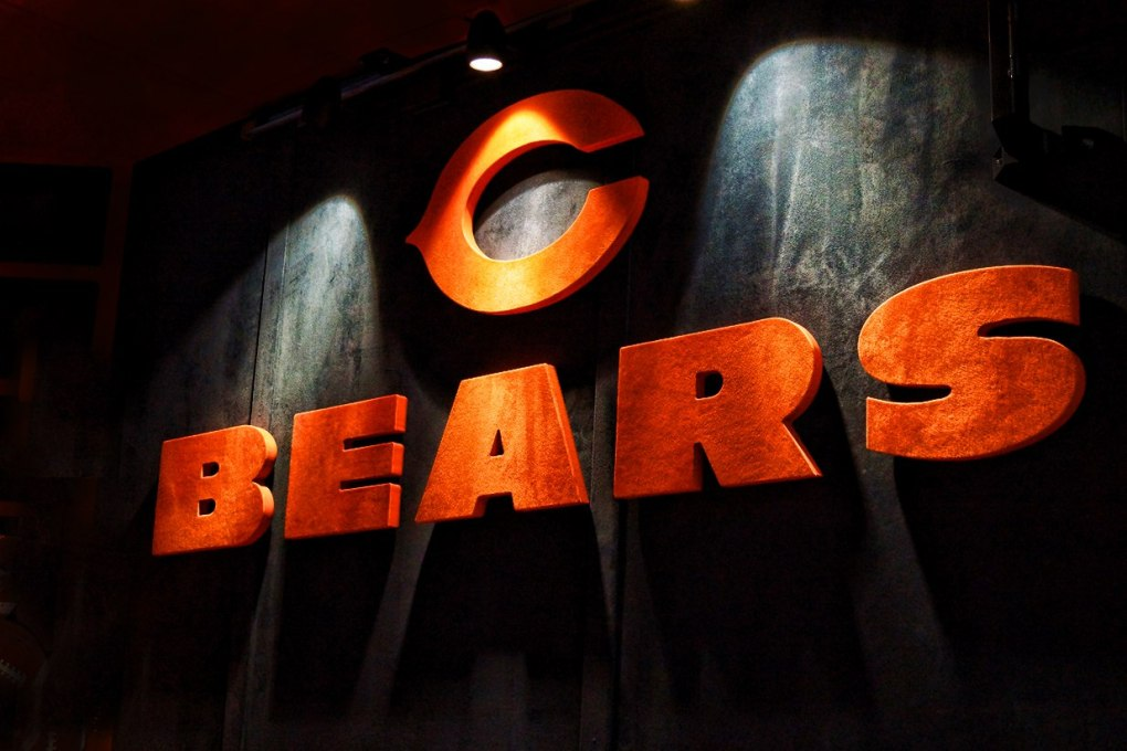 Chicago Bears Suede Letters