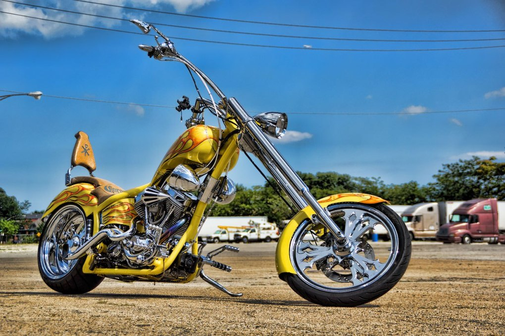 Custom Chopper Motorcycle Spinner Rims
