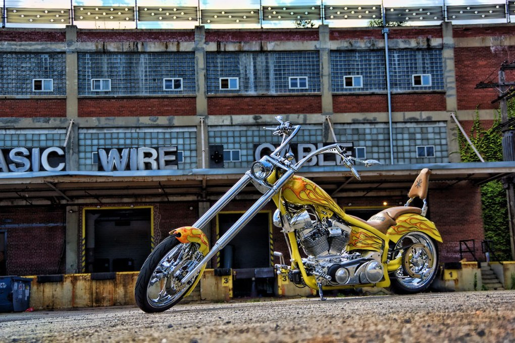 Custom Flame Paintjob Chopper