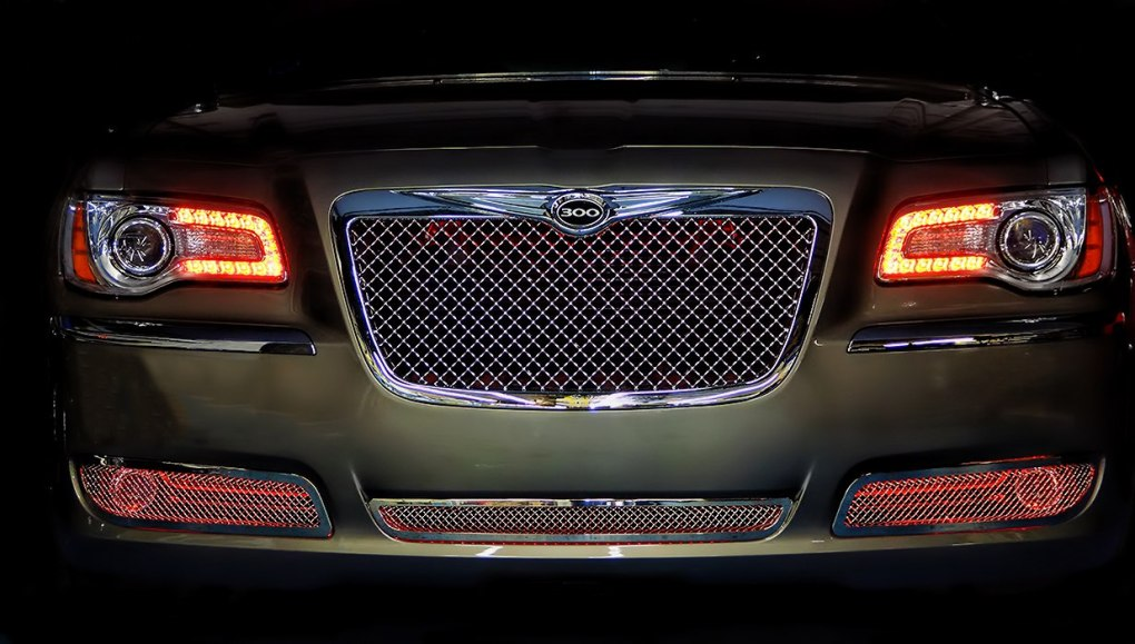 Red Chrysler 300 Oracle Halo Lights