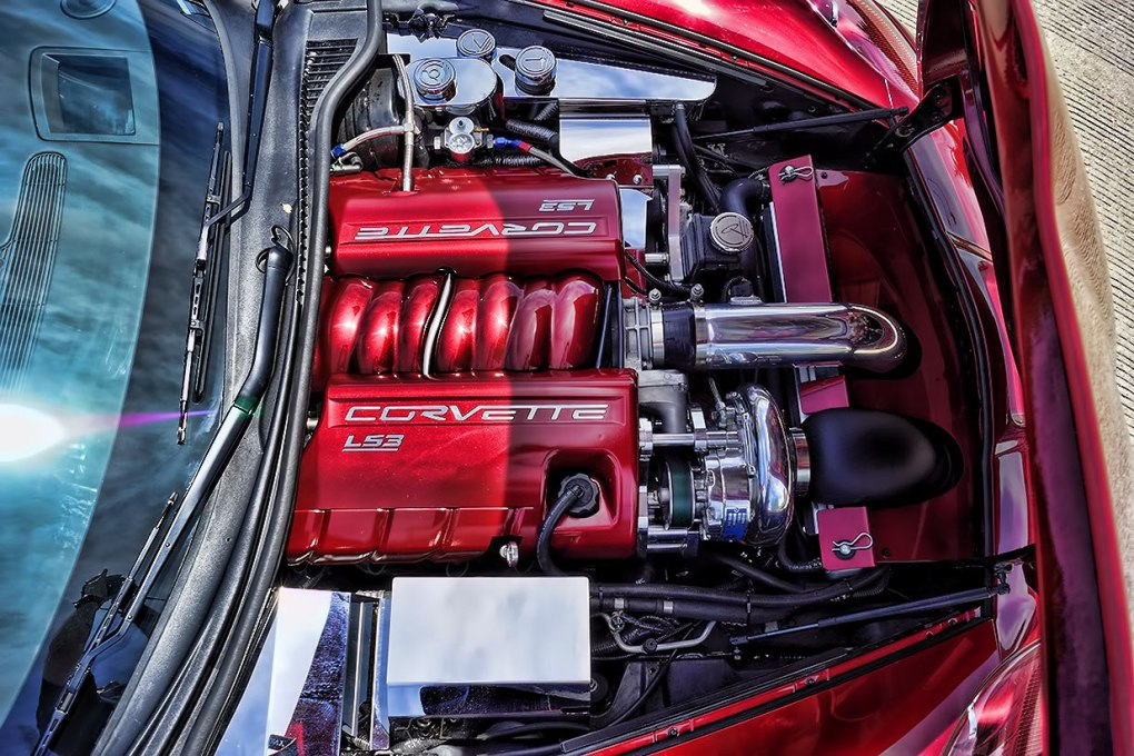 Vortech Supercharger Corvette Engine Dress Up