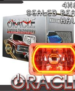 Pre-Installed Amber Halo Lights Sealed Beam 4x6