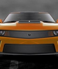 Phantom mesh grille Lower bumper grille for 2010-2013 Chevrolet Camaro fits V8 models (Matte black finish)