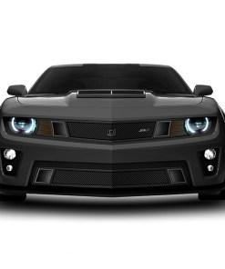GT Strada Lower bumper grille for 2010-2013 Chevrolet Camaro fits V8 models (Matte black finish)