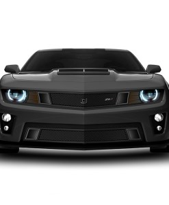 GT Strada Lower bumper grille for 2010-2013 Chevrolet Camaro fits V8 models (Matte black finish)