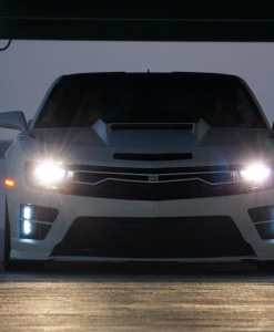 Predator Hidden Headlight Grille Primary Grille for 2010-2013 Chevrolet Camaro fits All models (Matte black finish)