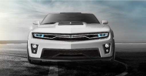 Predator Hidden Headlight Grille Lower bumper grille for 2012-2015 Chevrolet Camaro fits Zl1 models (Matte black finish)