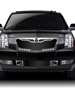 Macaro Lower bumper grille for 2007-2014 Cadillac Escalade fits Will Not Fit Premium And Platinum Edition models (Matte black finish)