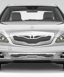 Macaro Lower bumper grille for 2007-2009 Mercedes Benz S550 fits Amg Sport models (Matte black finish)