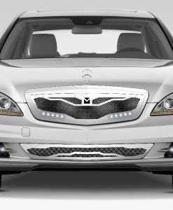Macaro Lower bumper grille for 2010-2013 Mercedes Benz S550 fits All models (Triple Chrome finish)