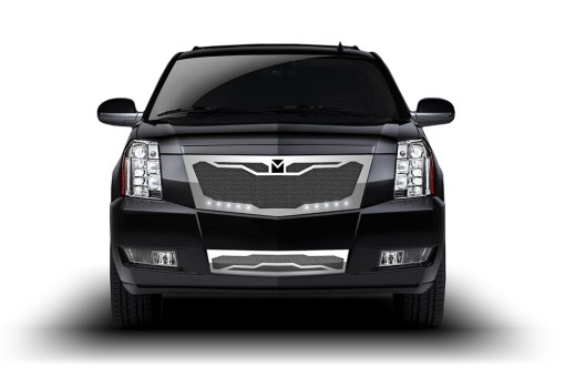 Macaro Fender Grilles for 2008-2014 Cadillac Escalade fits All models (Matte black finish)