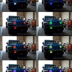 Jeep Wrangler Wiring Diagram 2016 T12 Fluorescent Ballast 2010-2015 Jk Pre-assembled Led Fog Lights - Mr. Kustom Auto Accessories And ...