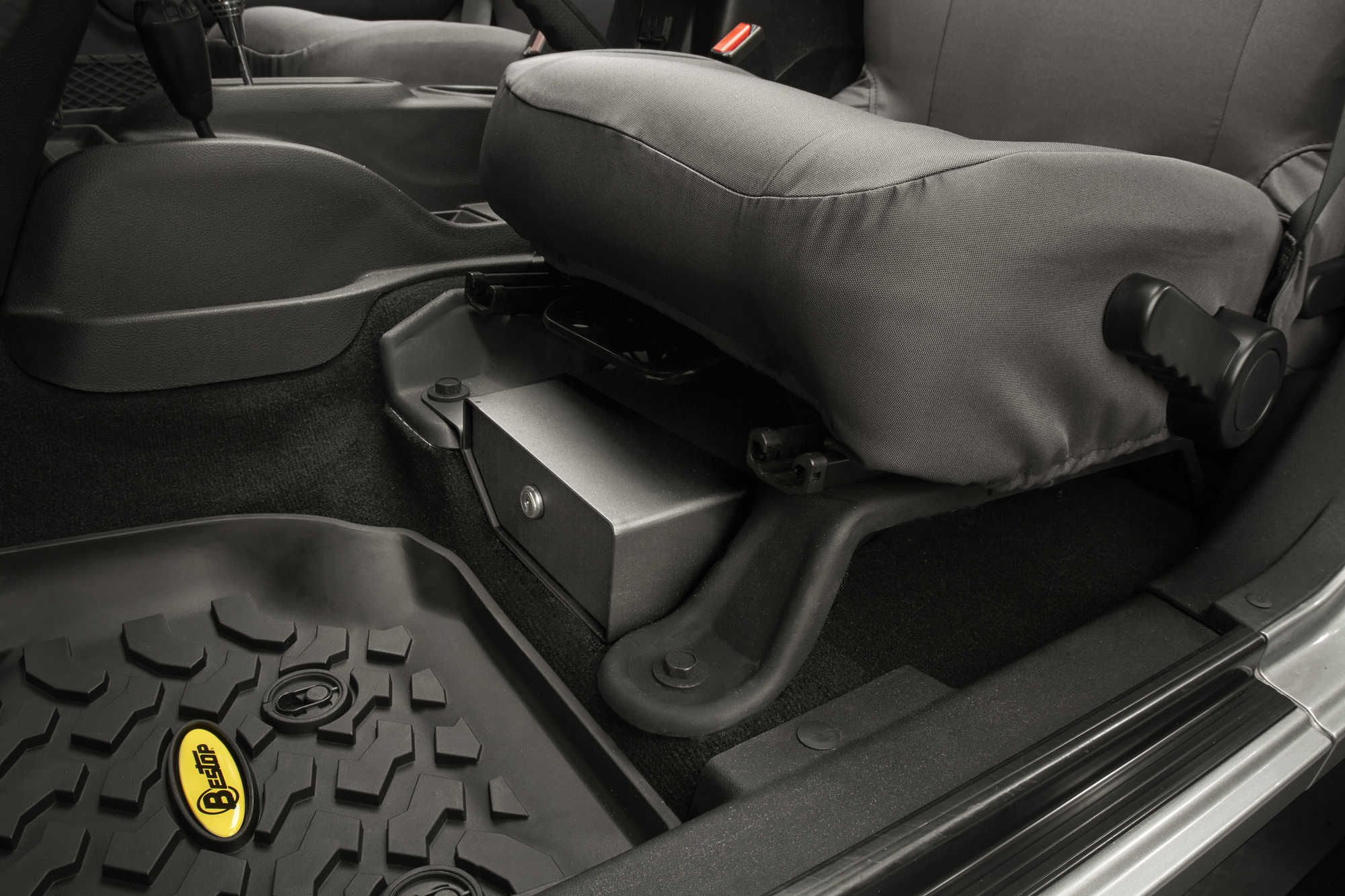 Bestop 174 Locking Under Seat Storage Box In Textured Black