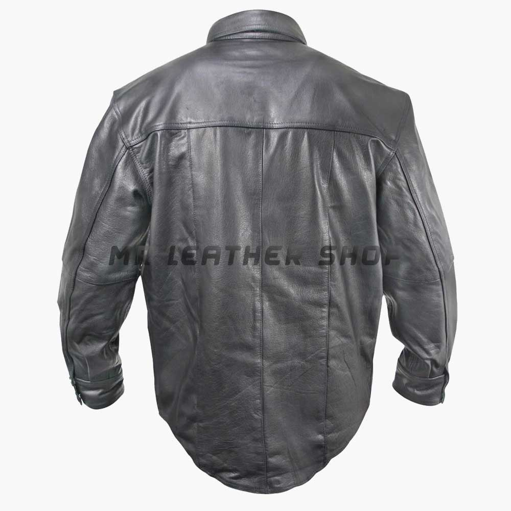 Long Sleeve Leather Shirt