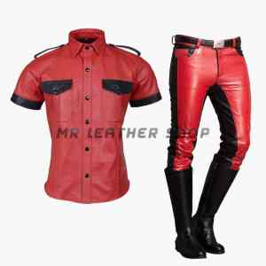 Leather Police Uniform