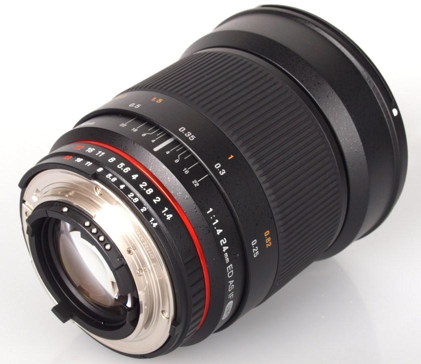 Samyang 24mm f1.4 lens