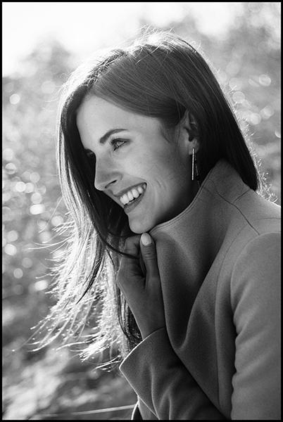 Leica CL vs Leica M8 Review - B&W Portrait - Girl Smiling
