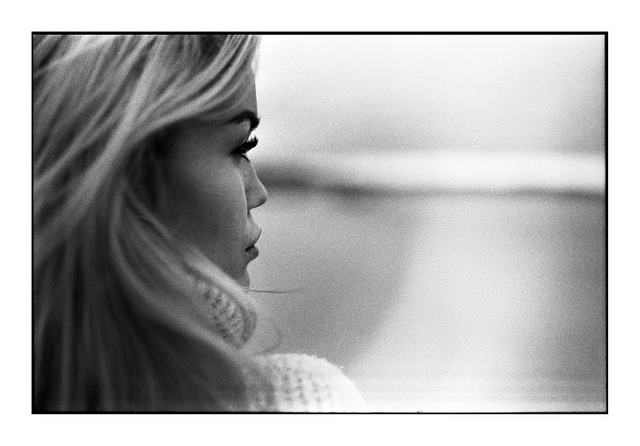 Tamron 45mm Review - Portrait of a GIrl B&W