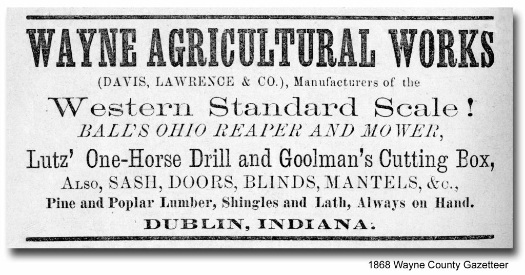 Wayne Agricultural Works of Dublin, Indiana