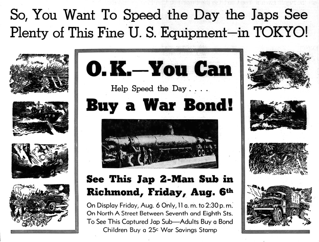 Pal-Item ad announcing the submarine visit