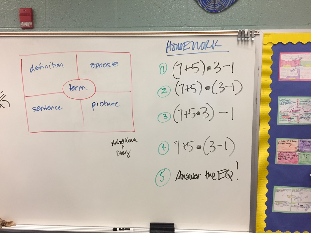 Lesson Notes Cw And Hw Order Of Operations And