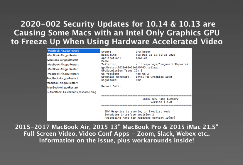 2020 002 Update Causes Some Macs To Freeze When Using Hw Accelerated Video